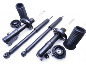 Kit 4 Amortecedores Originais KYB + Kits Coxim Honda City e New Fit