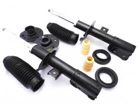 Kit com 2 Amortecedor Chevrolet Captiva + 2 Kits Coxim Batente Rolamento e Coifa Dianteiros Dir e Esq