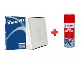 Filtro de Cabine Ar Condicionado + Higienizador Cobalt, Cruze, Onix, Prisma, Spin, Sonic e Tracker