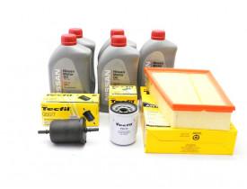 Kit Troca de Óleo Sentra 2.0 - 09 a 2013 - Óleo Nissan 5w30 e Filtros de Óleo, Ar e Combustível Tecfil