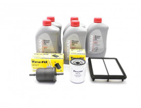 Troca de Óleo Kicks - Óleo Nissan 5w30 e Filtros de Óleo, Ar e Combustível Tecfil