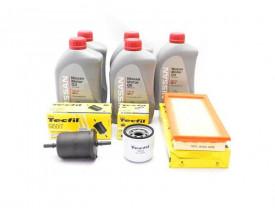 Kit Troca de Óleo March e Versa 1.0 - Óleo Nissan 5w30 e Filtros de Óleo, Ar e Combustível Tecfil até 2015