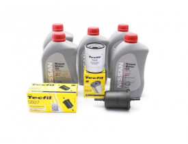 Kit Troca de Óleo Tiida Sentra Kicks Livina - Óleo Nissan 5w30 e Filtros de Óleo e Combustível Tecfil
