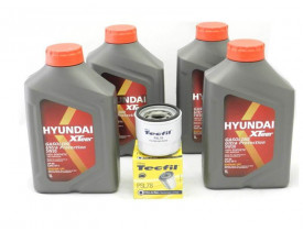 Kit Troca de Óleo HB20 1.0 Turbo - Óleo Hyundai 5w30 e Filtro de Óleo Tecfil