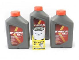 Kit Troca de Óleo HB20 e Picanto 1.0 - Óleo Hyundai 5w30 e Filtro de Óleo Tecfil