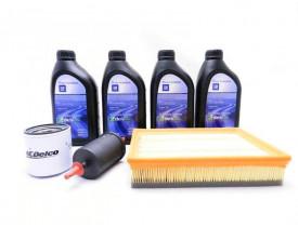 Kit Troca de Óleo Spin e Cobalt - Óleo 5w30 GM Sintético e Filtros de Óleo, Ar e Combustível GM ACDelco