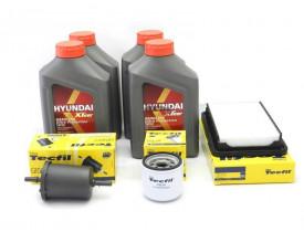 Kit Troca de Óleo HB20 1.0 Turbo - Óleo Hyundai 5w30 e Filtros de Óleo, Ar e Combustível Tecfil