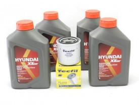 Kit Troca de Óleo HB20 e Creta 1.6 16v - Óleo Hyundai 5w30 e Filtro de Óleo Tecfil