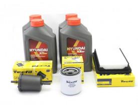 Kit Troca de Óleo HB20 1.6 - Óleo Hyundai 5w30 e Filtros de Óleo, Ar e Combustível Tecfil