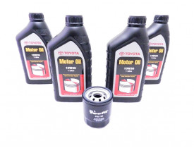 Kit para troca de óleo com 10w30 Original Toyota + Filtro para Toyota Corolla e Fielder