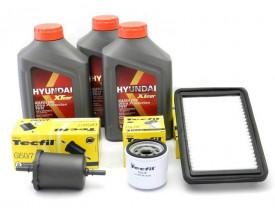Kit Troca de Óleo HB20 e Picanto 1.0 - Óleo Hyundai 5w30 e Filtros de Óleo, Ar e Combustível Tecfil