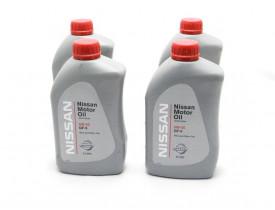 Kit com 4 litros de Óleo March e Versa Lubrificante de Motor Original Nissan 5w30 GF-5 Api SN