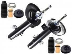 Kit 2 Amortecedor Citroen C3 2013 14 15 16 17 Automático + Coxim Batente Coifa - Dianteiro - Allen Amortecedores