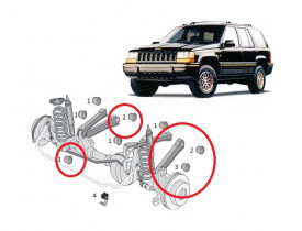 Kit 4 Buchas Braços Inferiores Jeep Grand Cherokee 93 a 98 Suspensão Dianteira Jogo