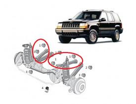Kit 4 Buchas Braços Superiores Jeep Grand Cherokee 93 a 98 Suspensão Dianteira Jogo