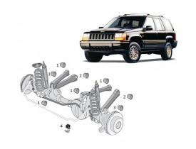 Kit 10 Buchas Suspensão Jeep Grand Cherokee 93 a 98 Dianteira Jogo Completo