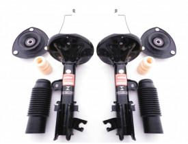 Kit 2 Amortecedor + 2 Coxim Batente Coifa Hyundai Tucson ou Kia Sportage